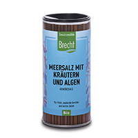 Brecht Meersalz mit Kräutern & Algen Nachfüllpack für Gewürzmühle