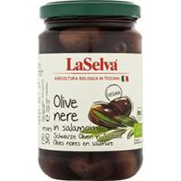 La Selva Oliven dunkel in Salzlake
