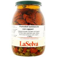La Selva halbgetrocknete Tomaten mit Kapern in Olivenöl - Grosspackung