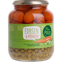 Nur Puur Erbsen & Möhren bio, 680 g