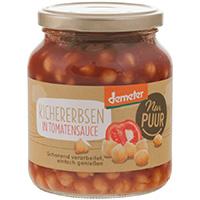 Nur Puur Kichererbsen in Tomatensauce demeter, 350 g