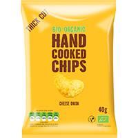 Trafo Handcooked Chips Käse und Zwiebel, 40 g
